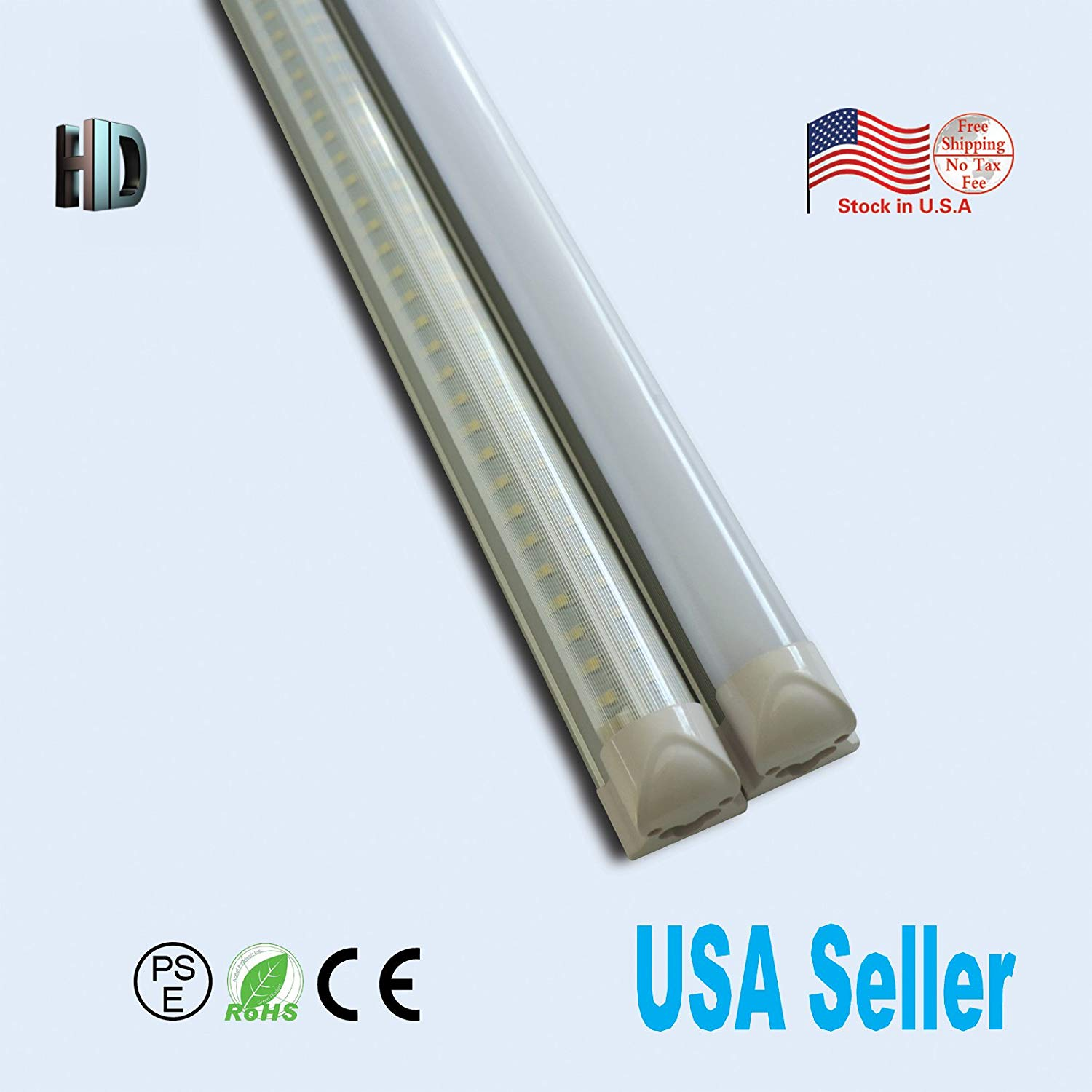 25 PACK LED T8 Integrated v shaped tube 5ft 30W AC110-277V LED Bulb tube Lamp striped cover with 5700K LED Light tube SMD2835 chip high brightness T8 integrated v shaped tube lamp