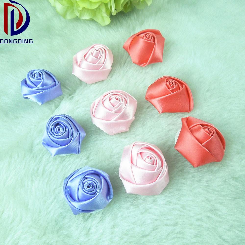 Alta Qualidade Feita Sob Encomenda Colorida Fita Rosas Enfeites Fita  -> Enfeites De Fotos