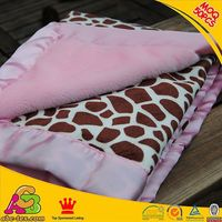 Customized designs 2 layers Oeko Tex 100 Europe fashion polyester mink blanket