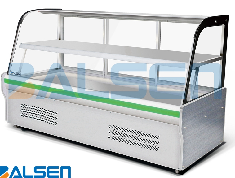 Cold storage dispaly showcase cabinet for cold dish in restaurant and hotel Refrigerator freezer display showcase