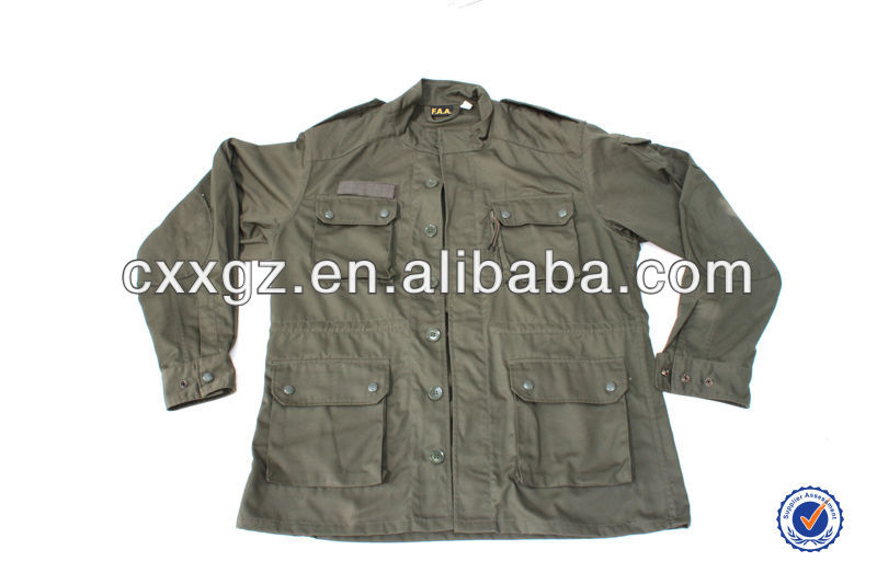 Olive Green F1 Army Military Uniform With Pants and BDU Cap