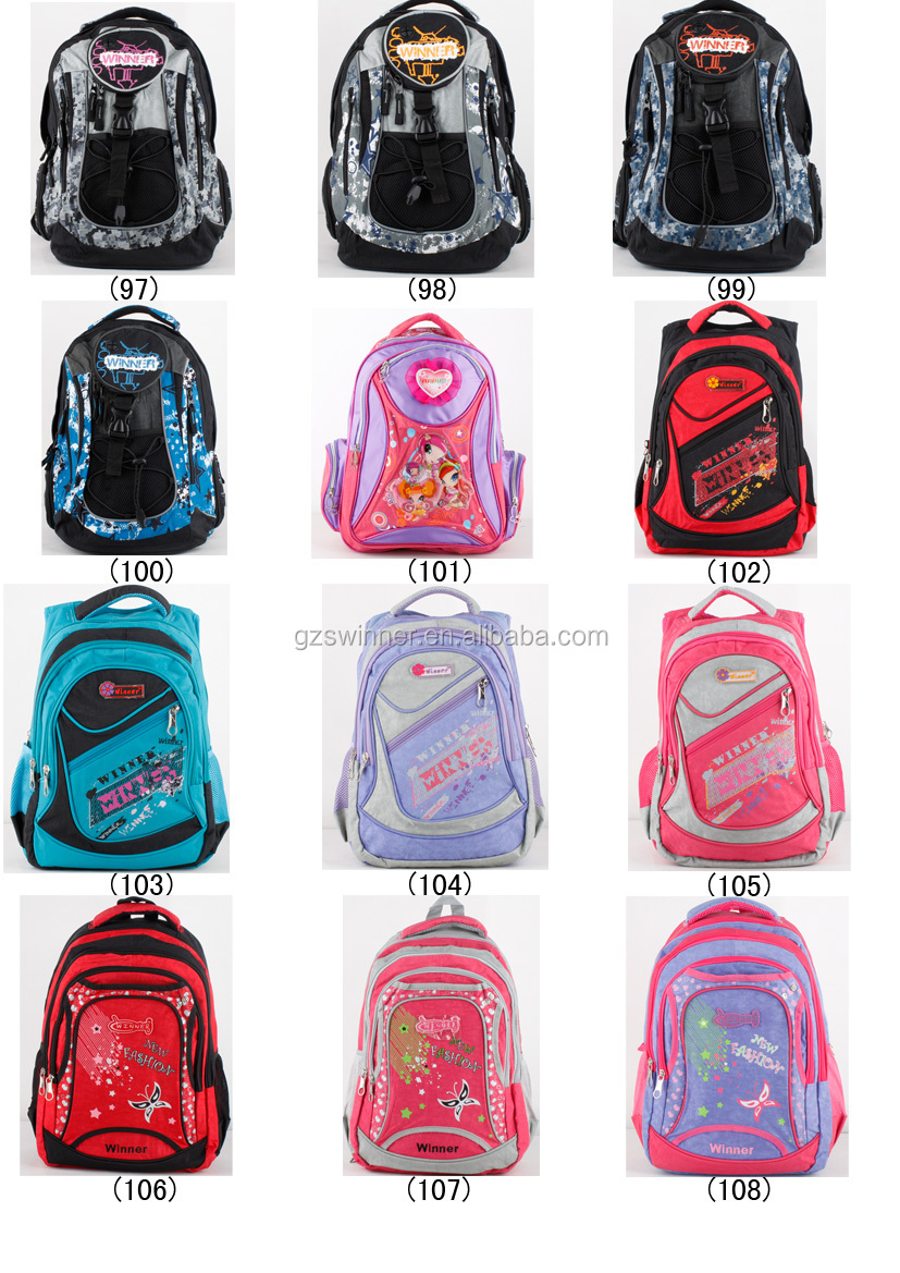 School bag for girl - 2015 Guangzhou Young Girls Backpack And Best Price Girl School Bag With Butterflies