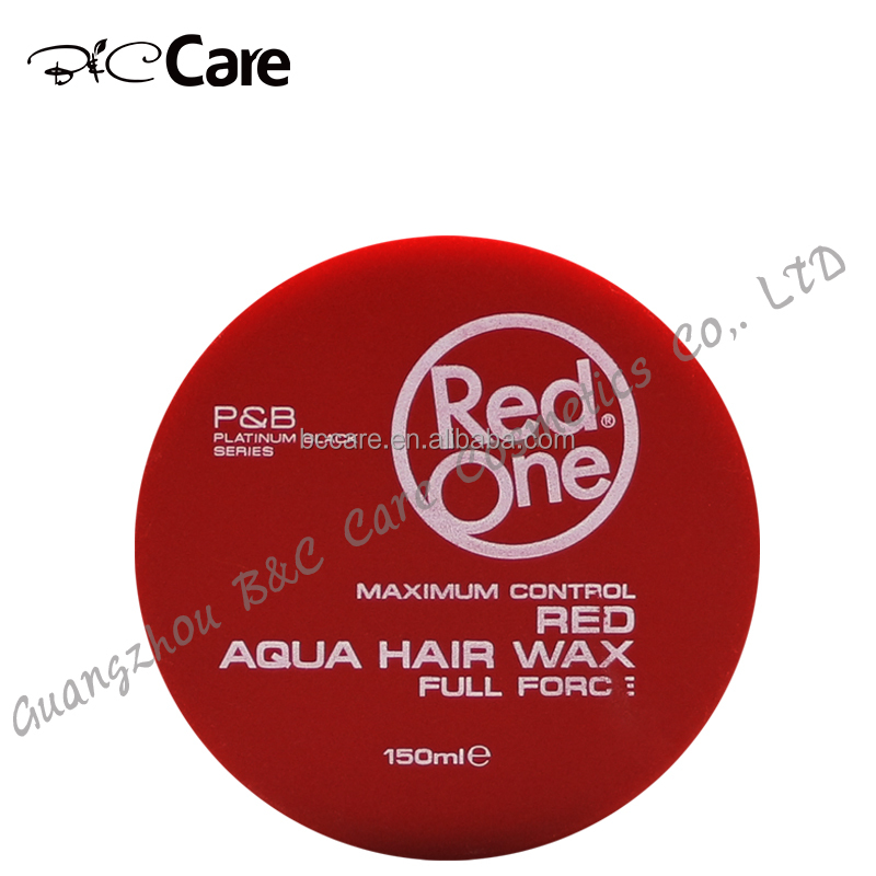 Best shining eextra hair edge control red one hair wax for men wholesale