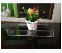 acrylic plastic plate/square fruit food dessert plate display for household and hotel