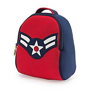304742a47d79 Dabbawalla Bags Vintage Flyer Military themed Kids  Preschool   Toddler  Backpack Navy Red by Dabbawalla Bags