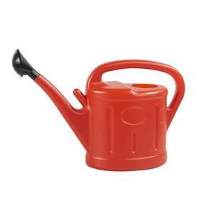 5L Red Plastic All color available cheap plastic flower self watering pot parts watering can