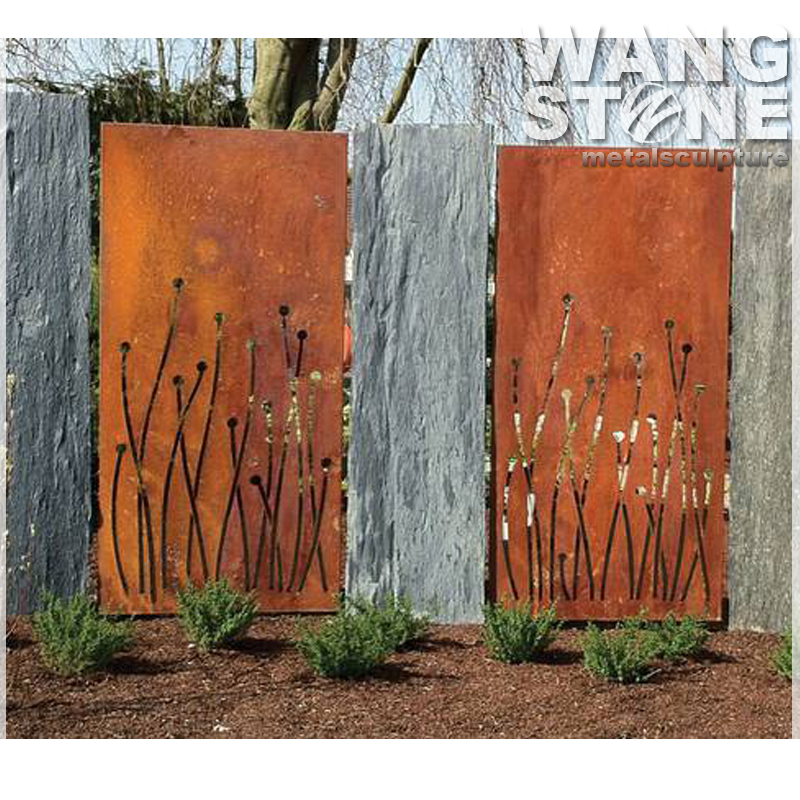 2017 New Design Corten Steel Garden Screen