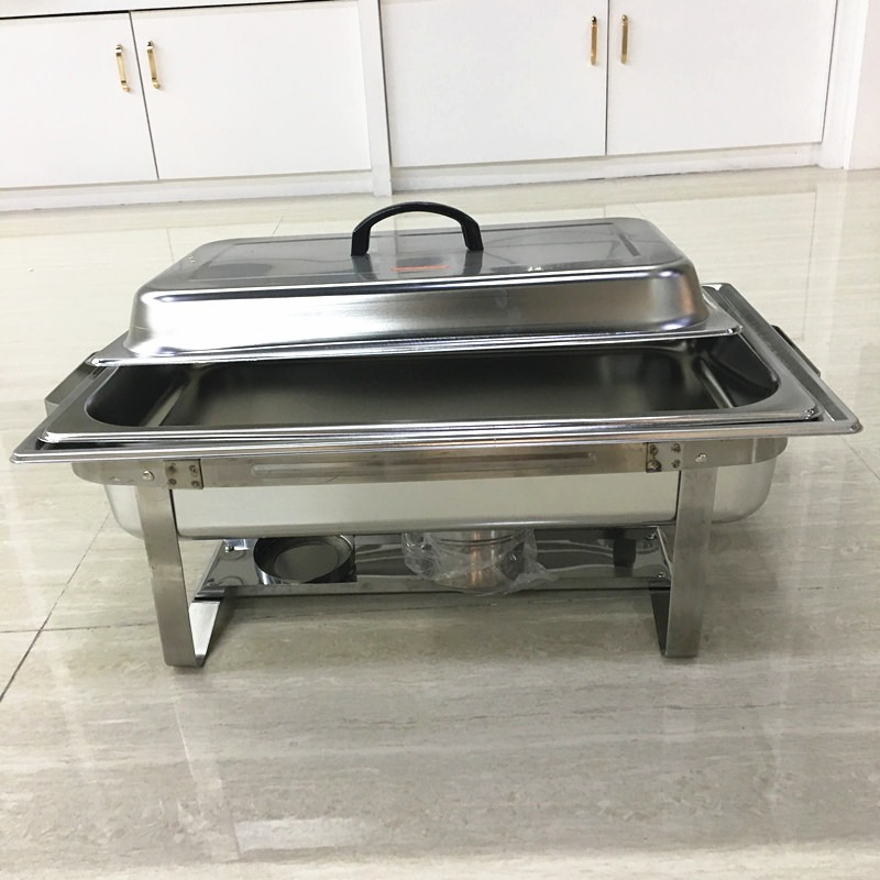 Large rectangular Buffet Catering stainless steel Food Warmer Dishes