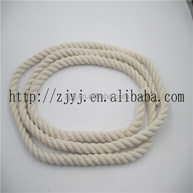 3 Strands Twisted Cheap White Cotton Rope For Packing