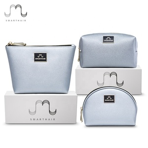 Personalized Toiletry Small Private Label Makeup Cosmetic Case Brush Zip Bag Sets Logo
