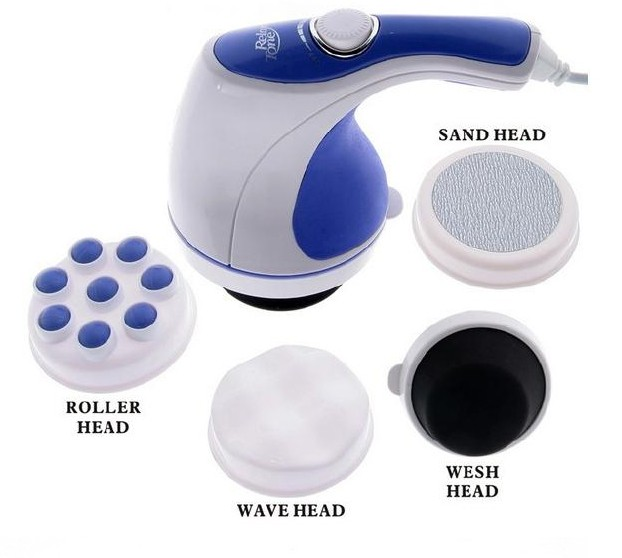 4 in 1 Relax & Spin Tone Fat Burn Massager As Seen On TV Full Body Handheld Massager for Relaxing, Toning Slimming