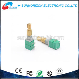 Long shaft 10k balance dual concentric shaft rotary precision potentiometer