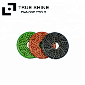 "3.5"" 90mm Wet Diamond Tools Floor Polishing Pads for Stone Concrete"