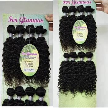 Kinky Curly Hair in Unprocessed Human Animal Natural Hair Extensions 8PCS/Package DIVA Curly Styles Body Wave Wefts For WomeN