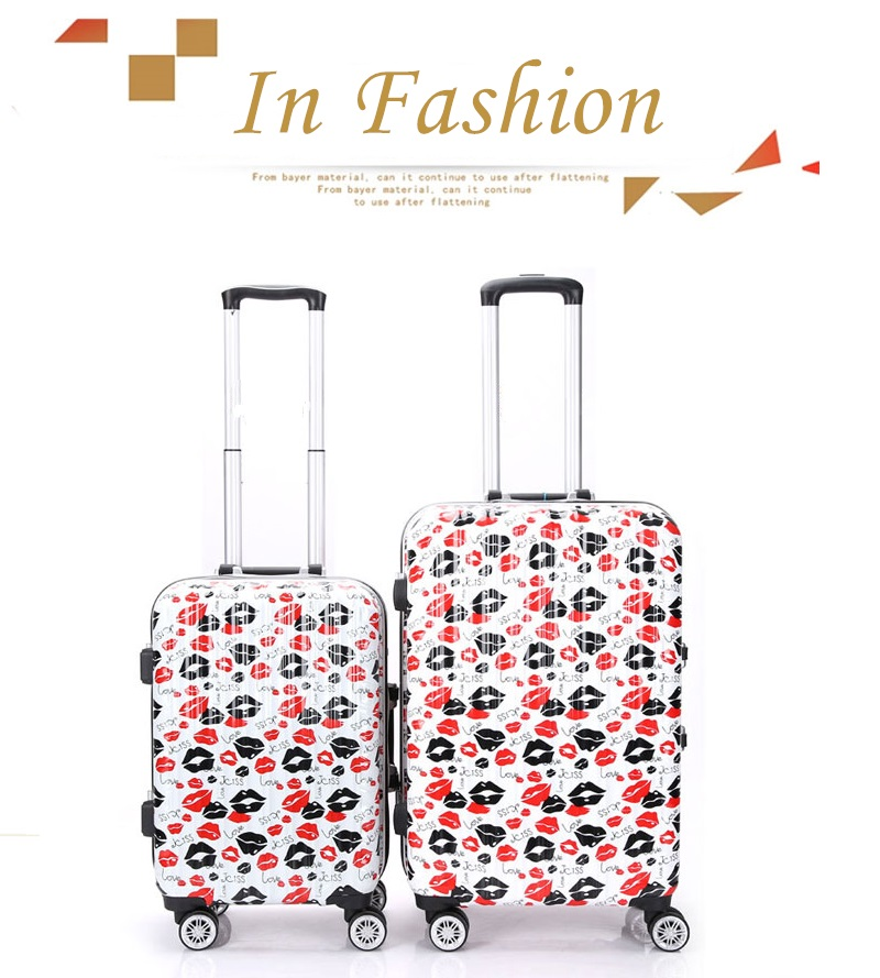 2017 Pop Luggage Unisex Travel Suitcase set ABS PC 4 Rolling Wheel Hard Case Carry-on Suitcase