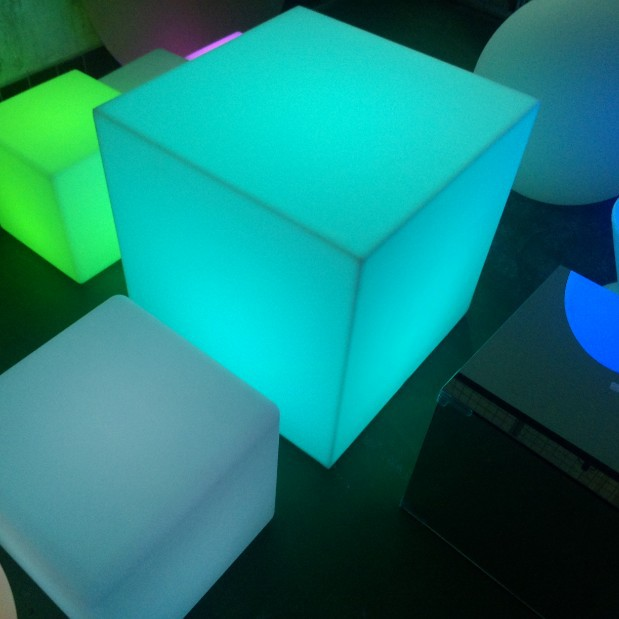 Solar LED Cube 16 Inch 3D Led Cube Light Furniture Sale,CE And RoHS Approval