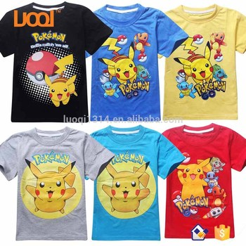 2017 High Quality Plain Cartoon Product Leisure Pokemon Pikachu Children  Clothing Manufacturers China - Buy Children Clothing Manufacturers