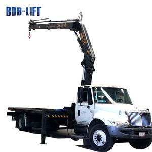 China famous brand SQ8ZA3 8 Ton 11m folding boom truck mounted crane with articulated arm for sales