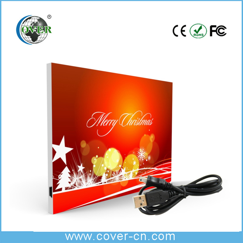 Factory Design Rechargable Greeting Carding with USB Card Greeting With Music Download