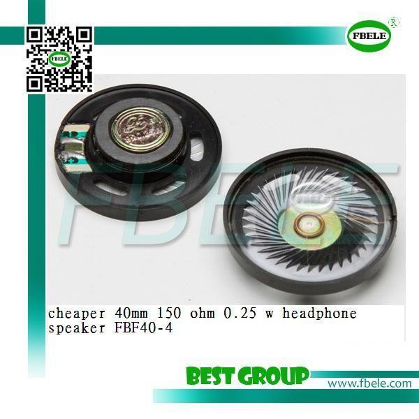 cheaper 40mm 150 ohm 0.25 w headphone speaker FBF40-4
