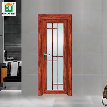 Factory Wholesale Glass Aluminum Ready Made Bathroom Door
