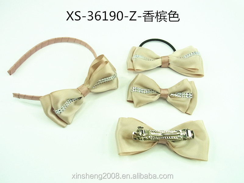OEM Girls Graceful Head Bands with ribbon