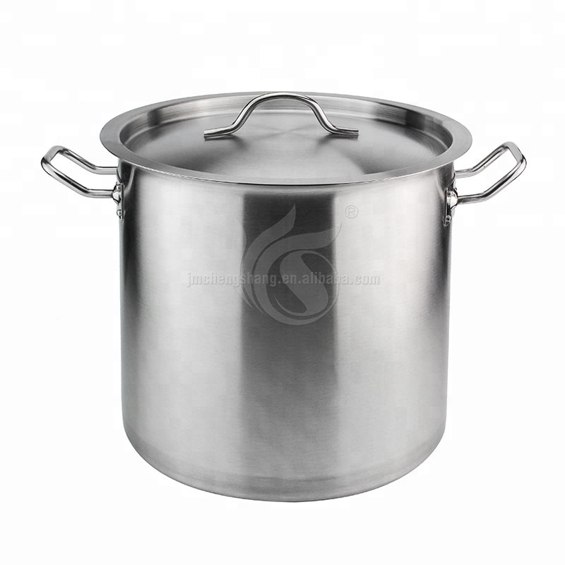 Cookware Large Pot Mirror Polished Hotel Stainless Steel Stock Pot