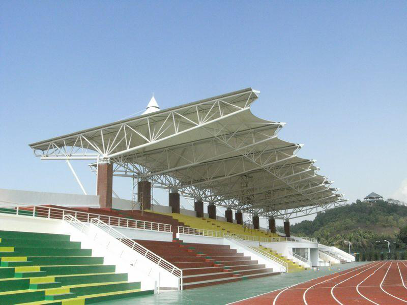 Long Span Low Cost Steel Roof Trusses For Gymnasium Stadium Bleachers Canopy