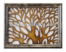 Shabby Tree Wall Decoration With Wood Frame