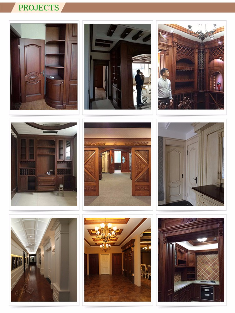 Chic Hand Engraving French Double Doors Exterior Decorative Exterior Doors Cost Of Solid Wood Doors