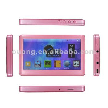 4.3inchTFT touch screen mp5 player/mp6 player/learning Machine with four button