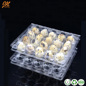 6, 12, 18, 24, 30 holes plastic quail egg cartons, top quail egg tray packaging box factory