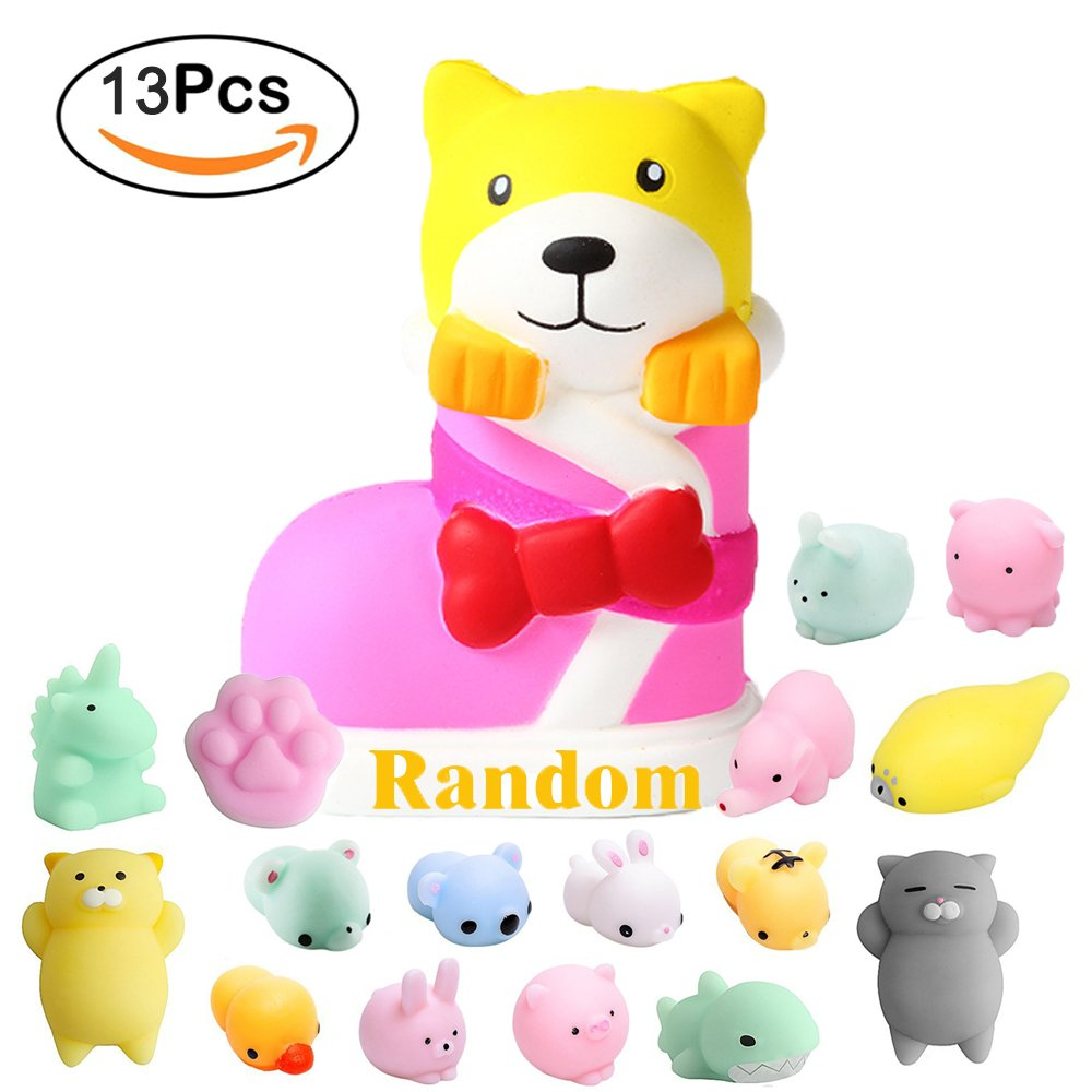 Stress Relief Toy Inventive Stress Reliever Cartoon Bear Cake Scented Slow Rising Squeeze Toy Mochi Squishy Collection Stress Reliever Toys For Children