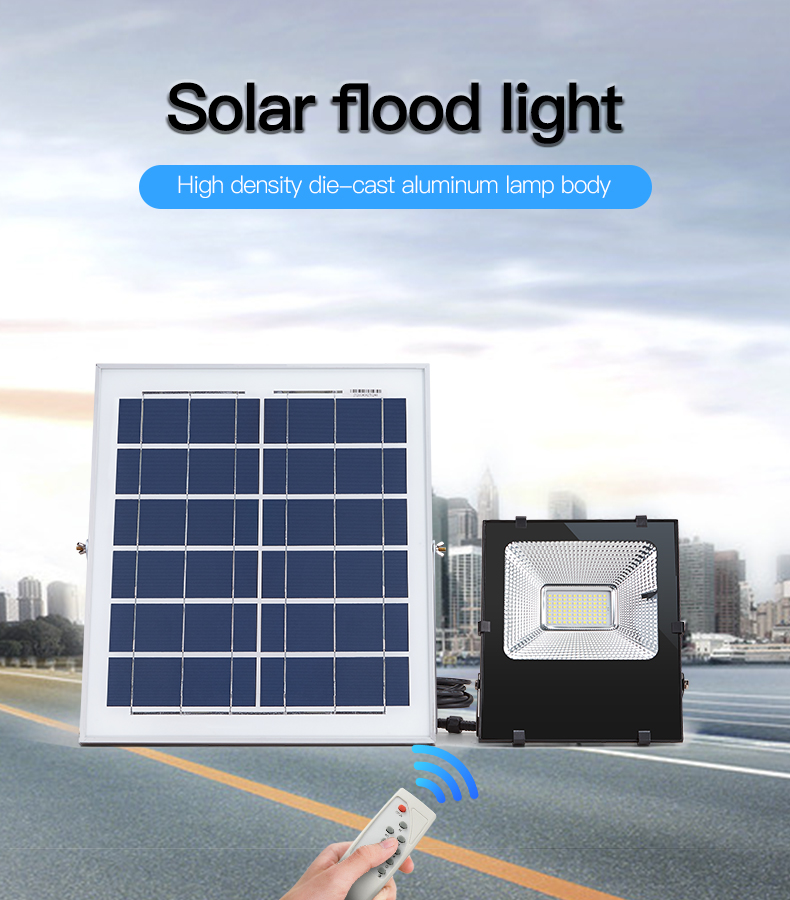 High power ip65 waterproof powerful 20w 30w 50w 100w solar flood light price