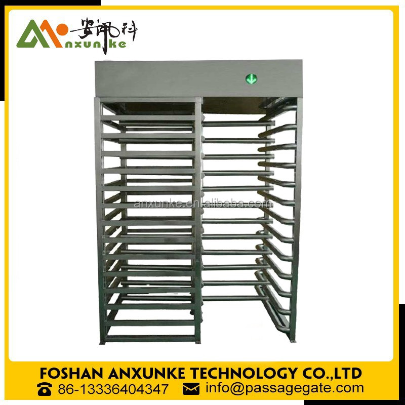Stadium single channel full height turnstile / biometric access control barrier gate in outdoor