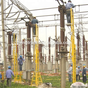 Electricity power station use fiber glass insulating ladders