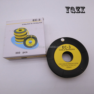 EC types color cable marker with free sample wire markers EC1 EC2 EC3