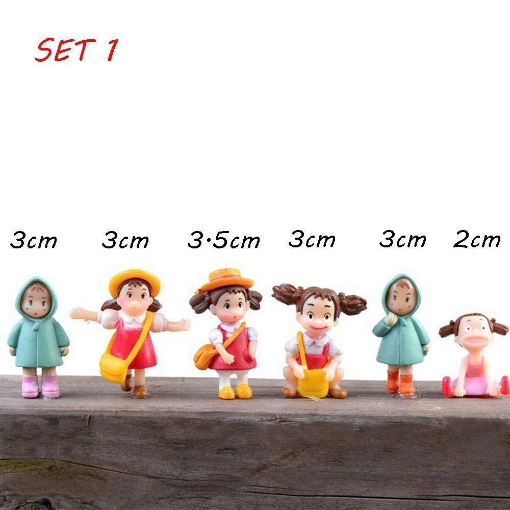 Kuuans 4/6pcs New Hot Cute Micro Landscape Resin Craft Xiaomei Ornaments Miniature Figurine