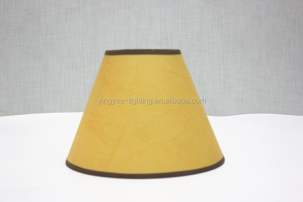 Parchment Small Empire Lamp Shades For Table Lights With Black Trim