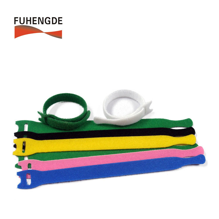 Hook Loop Nylon Data Cable Straps Reusable Wire Strap Ties