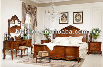 American Style Luxury Bedroom Furniture,American Antique Soild ...