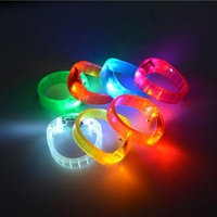 Hot sale concert music sound activated led flashing plastic bracelet voice controlled glowing wristband