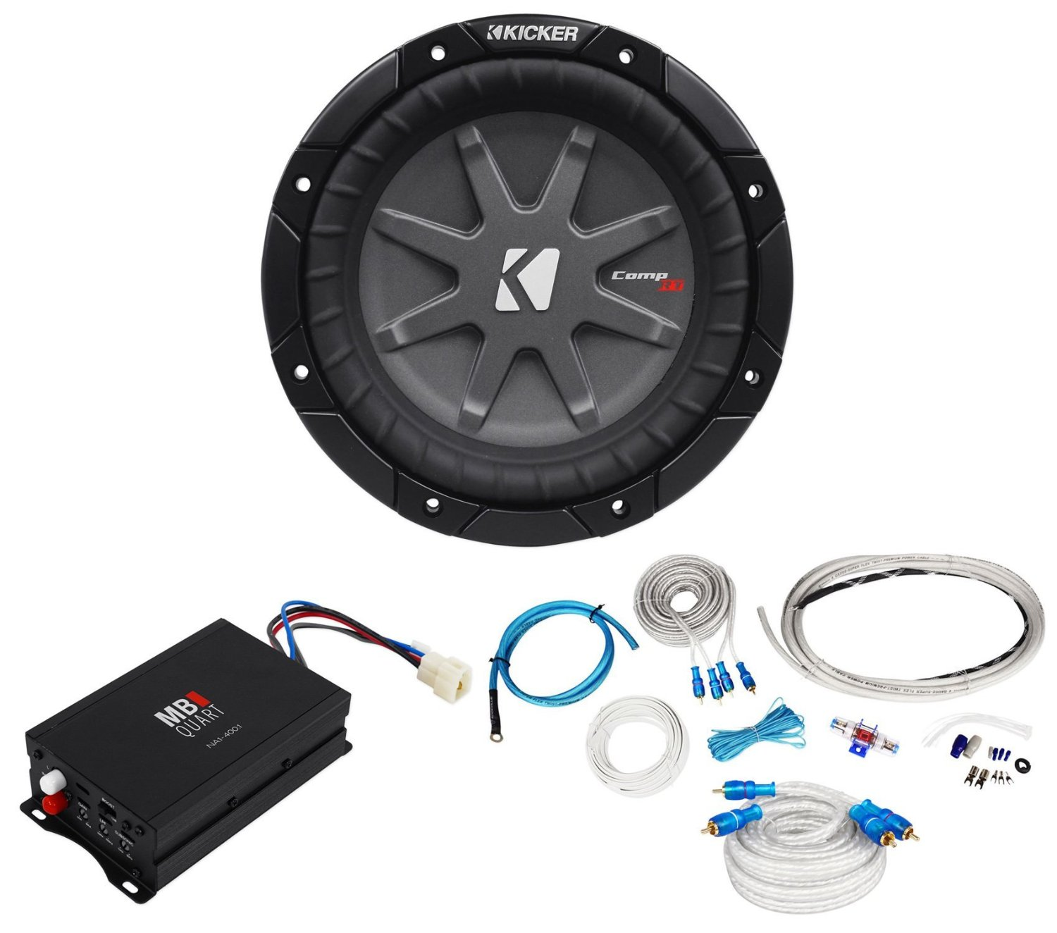 Cheap 600w Rms Subwoofer Find Deals On Line At Wiring Kits For Subs Get Quotations Package Mb Quart Na1 4001 400w Marine And Atv Compact Mono Amplifier