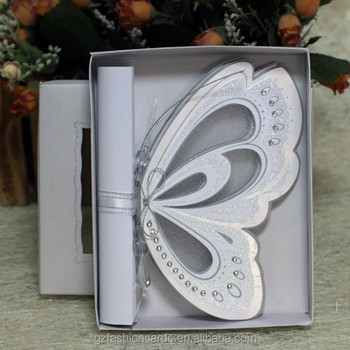 2015 Royal Scroll Butterfly Wedding Invitation Card Wedding