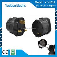 250V European Euro EU Sockets 2 Pin to UK 3 Pin Plug AdapterTravel Mains Adapter
