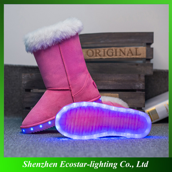 Fashion Comfort High Heels Women LED Snow Boots for Ladies