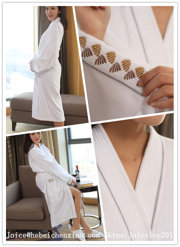 Double Layers Microfibre Bathrobe with Terry Inside
