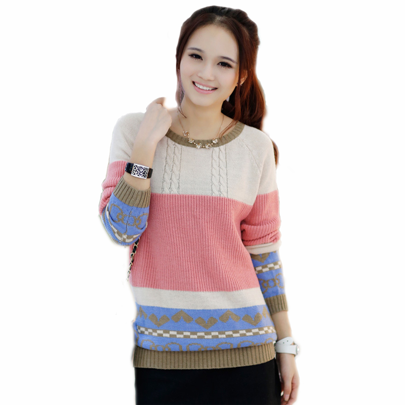 Summer Women Sweaters And Pullovers Candy Color Striped Crochet Tops For Ladies Female Blusa Feminina 2015