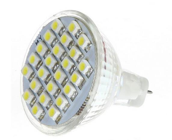 1PCS MR11 GU4 Warm White 24 SMD 3528 LED Office Spot Light Lamp Bulb Energy Saving 12V ZM00520 ...