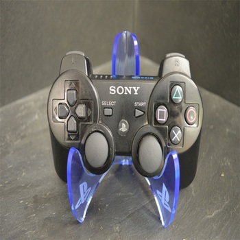 Desktop Plastic Games Controller Holder Blue Acrylic PS4 Controller Stand